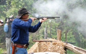 Big Bore created lots of gun smoke.